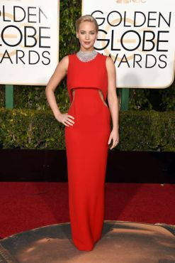 Jennifer Lawrence Golden Globes Dior
